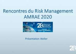 Présentations Sessions Ateliers   Rencontres AMRAE 2020
